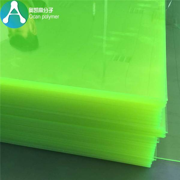 fluorescerende klar grøn plast PVC Sheet Featured Billede