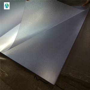 Embossed sheet transparent pvc ji bo çapkirinê balansek û post board