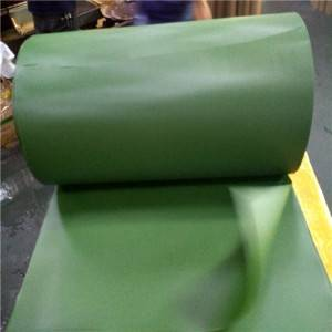 Matte green PVC Sheet/film material for artificial grass