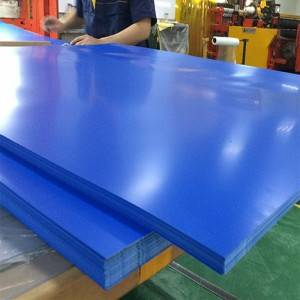 Customized rangi rigid PVC Karatasi 0.2-6mm unene