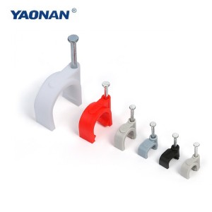 Factory best selling Plastic Cable Clip With Steel Nail -