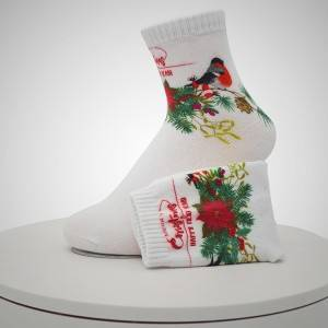 RRY Letters Pattern Digital Printed Socks