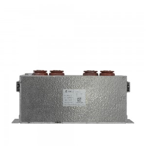 Self-healing film Power capacitor bank for rail traction