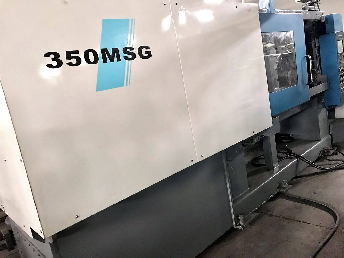 Mitsubishi 350t (350MSG) used Plastic injection molding machine Featured Image