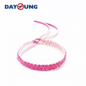 Leather mosquito repellent wristband