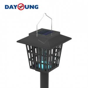 Eco-friendly Solar Electric Outdoor garden power Garden mosquito fly trap/killer lamp pest control