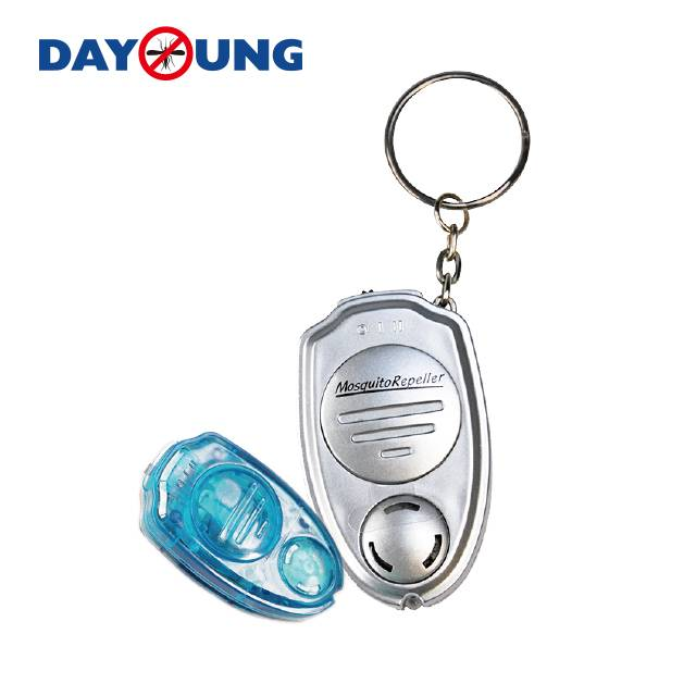 Effective insect repeller Silver keychain ultra sonic mosquito repeller Featured Image