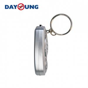 Effective insect repeller Silver keychain ultra sonic mosquito repeller