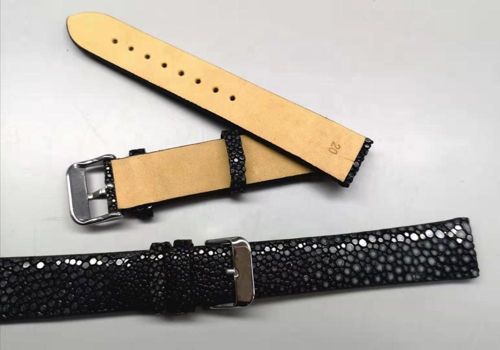 Fish skin leather strap, replacement strap for various brand watches