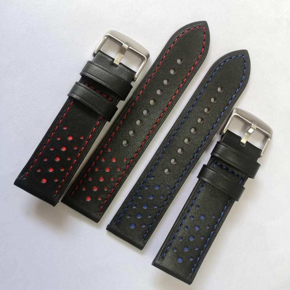 High quality customized watch strap ODM stainless steel buckle OEM leather strap