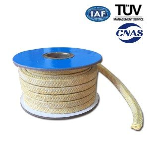 Aramid fiber Braided Packing dengan PTFE Diresapi