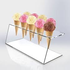 Big Discount Acrylic Rotating Display Stand - ice cream cone – LongFuJin