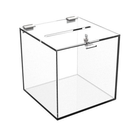 Good quality Cosmetics Show Stand - acrylic ballot box with lock – LongFuJin Featured Image