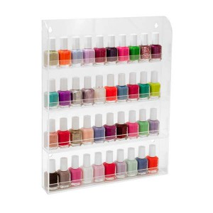 wall mounted nail polish rack