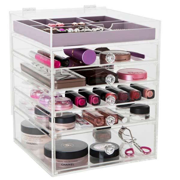 Reasonable price for Centerpiece Acrylic Display Stand - acrylic makeup organizer – LongFuJin Featured Image