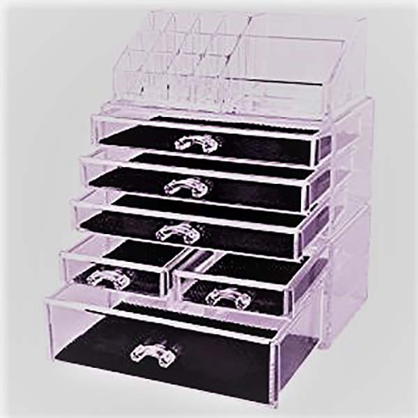 Factory selling Acrylic Show Case With Lock - makeup tray organizer – LongFuJin detail pictures