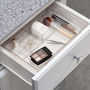 acrylic makeup box with drawers