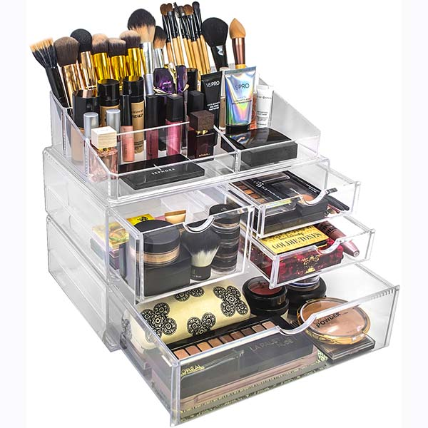 Discountable price Underwear Display Cabinet - acrylic containers for makeup – LongFuJin