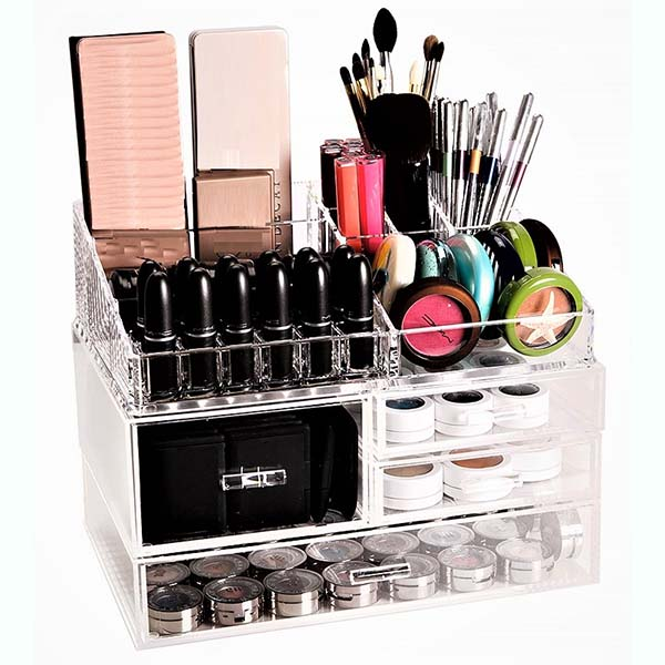 Wholesale Store Wooden Cosmetic Display Stand - perspex makeup storage – LongFuJin