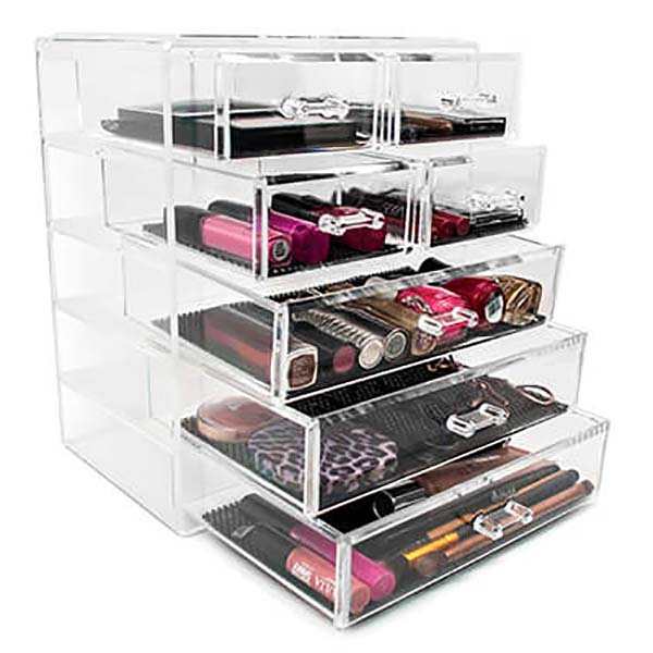 Manufacturing Companies for Table Top Display Shelves - acrylic makeup drawers – LongFuJin