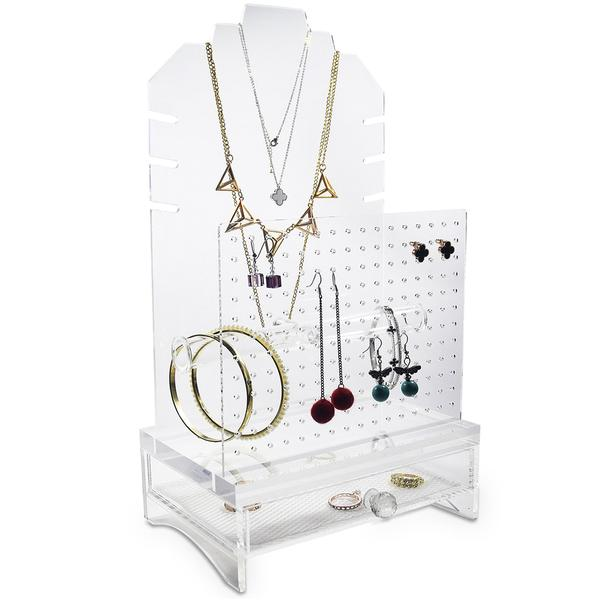 Factory making Customized Acrylic Cosmetic Display Unit - acrylic jewellery organiser – LongFuJin