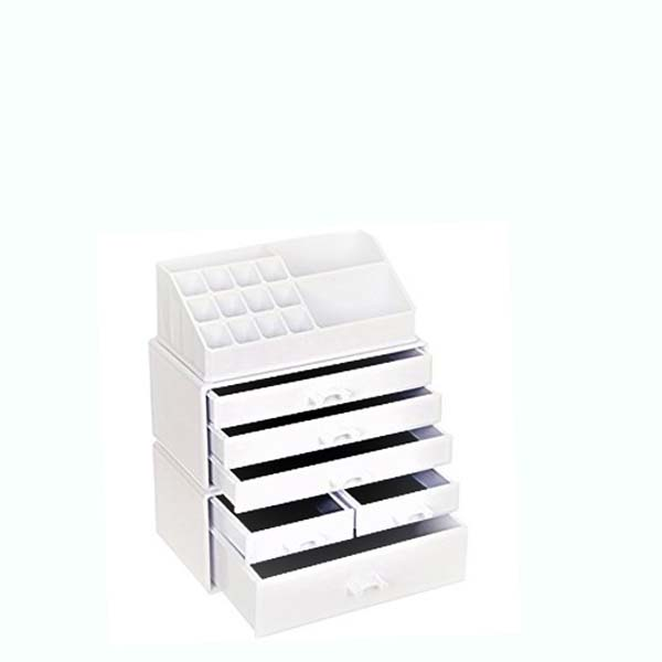 Well-designed Acrylic Cosmetic Counter Display - acrylic makeup organizer with drawers – LongFuJin