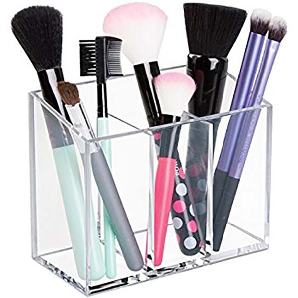 Quality Inspection for Literature Display - acrylic makeup brush storage – LongFuJin