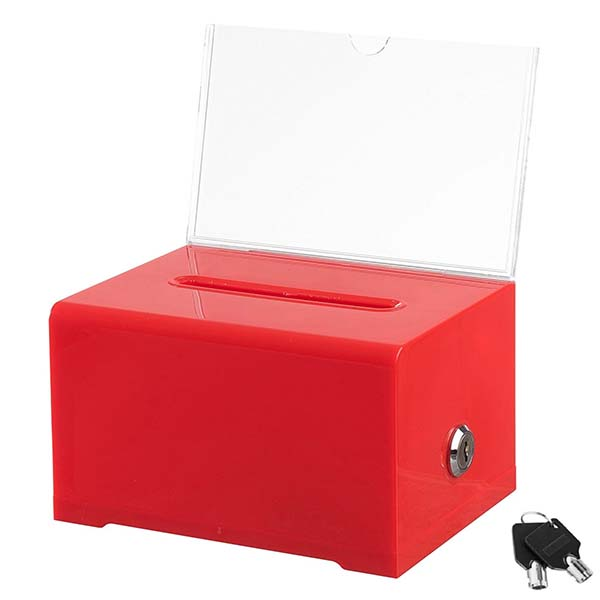 Factory best selling Large Acrylic Display Boxes - acrylic lock box – LongFuJin