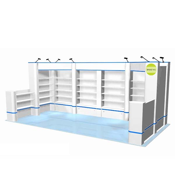 Factory Promotional Cosmetic Counter Display - trade show display shelves – LongFuJin detail pictures
