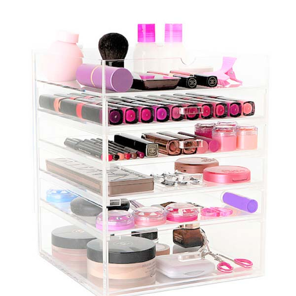 OEM Customized Acrylic Display - plastic makeup organizer – LongFuJin