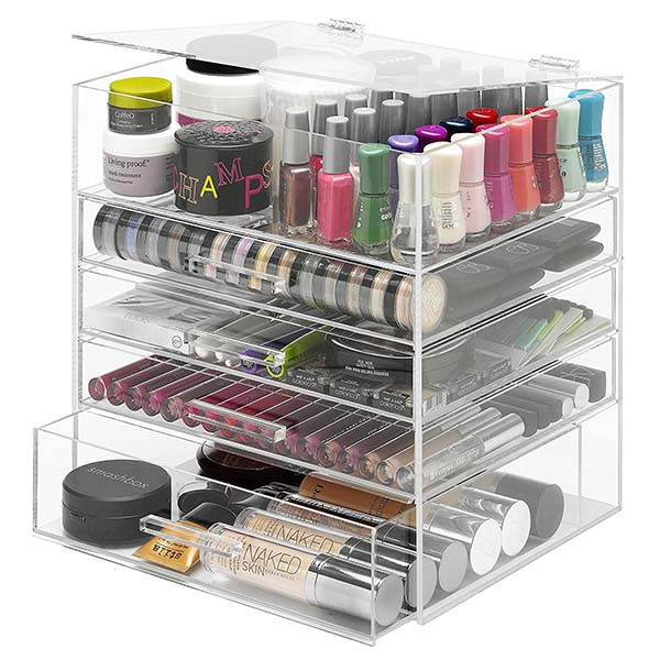 Ordinary Discount Display Booths - acrylic cosmetic drawers – LongFuJin