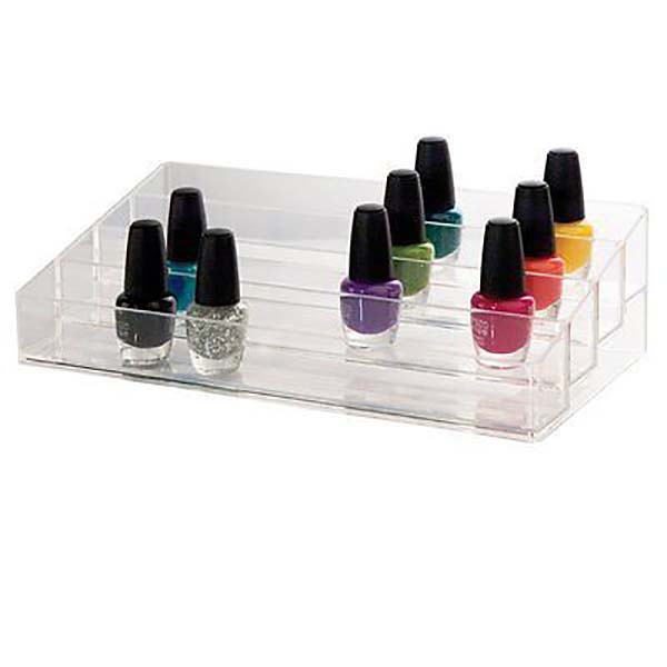 China wholesale Wooden Retail Cosmetic Display Unit - nail varnish display case – LongFuJin