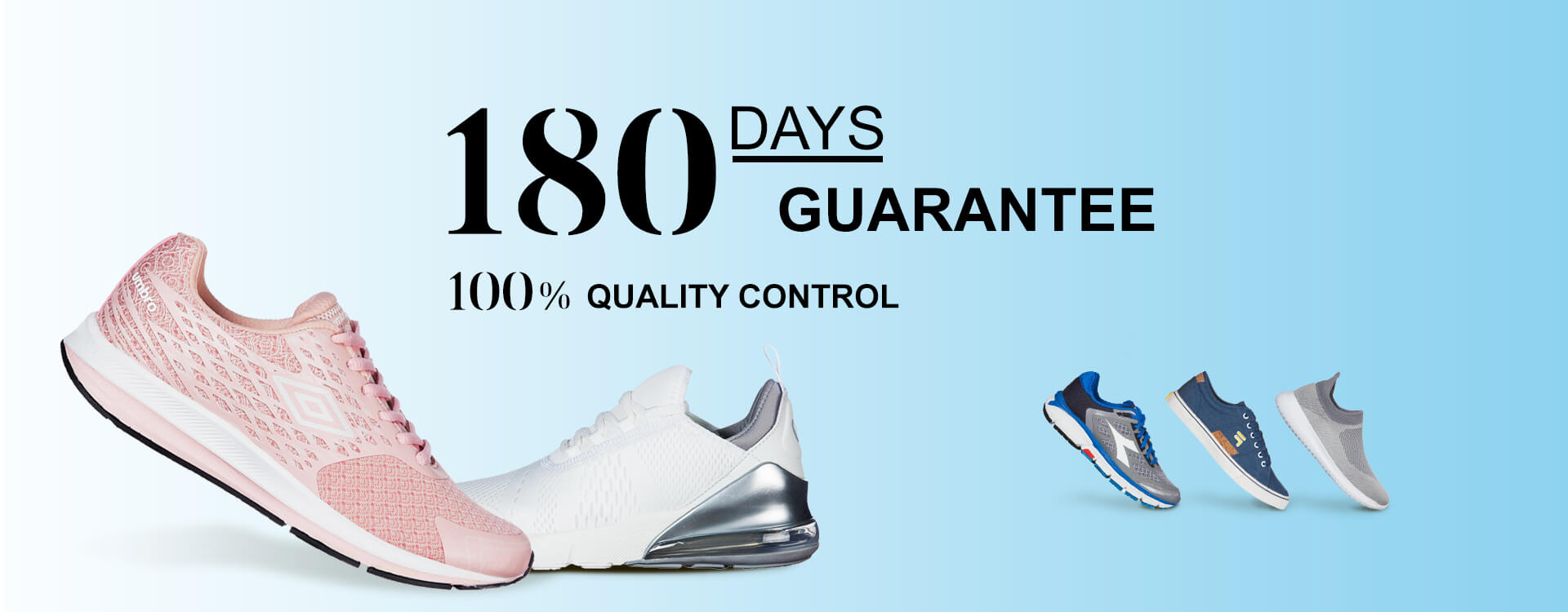 180 DAYS GUARANTEE. 100% QUALITY CONTROL