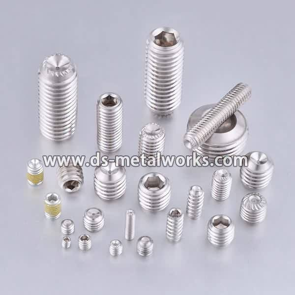 Factory supplied ASTM F880 F880M Stainless Steel Socket Set Screws to Kuwait Manufacturer detail pictures