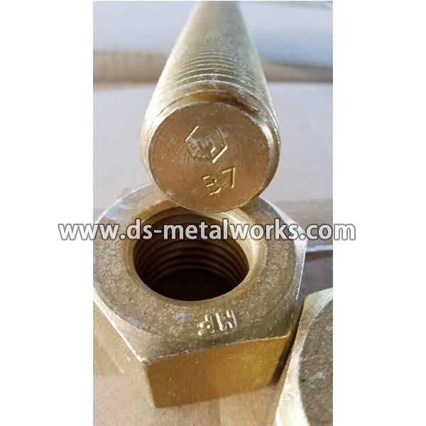 Wholesale price stable quality Cadmium Plated A193 B7 Threaded Stud Bolts for Albania Importers detail pictures