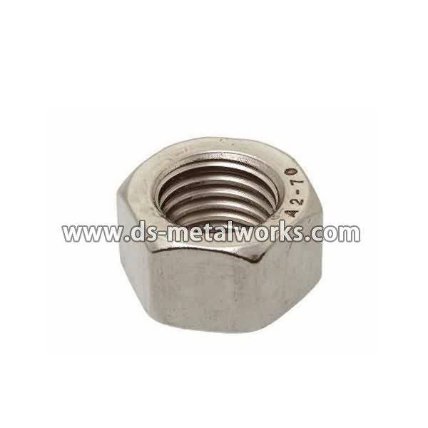High Efficiency Factory A2-70 A4-70 ASTM F594 Stainless Steel Hex Nuts for Morocco Factories