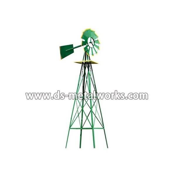 Factory source manufacturing Metal Garden WindMill for Peru Factory detail pictures