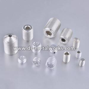Aluminum chiwanikwa Set Screw chibvukuche screws