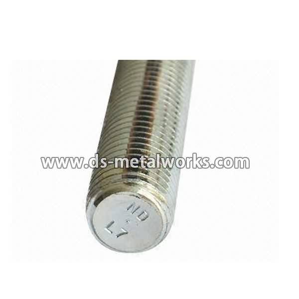 Factory provide nice price ASTM A320 L7 All Threaded Stud Bolts to Cape Town Factory