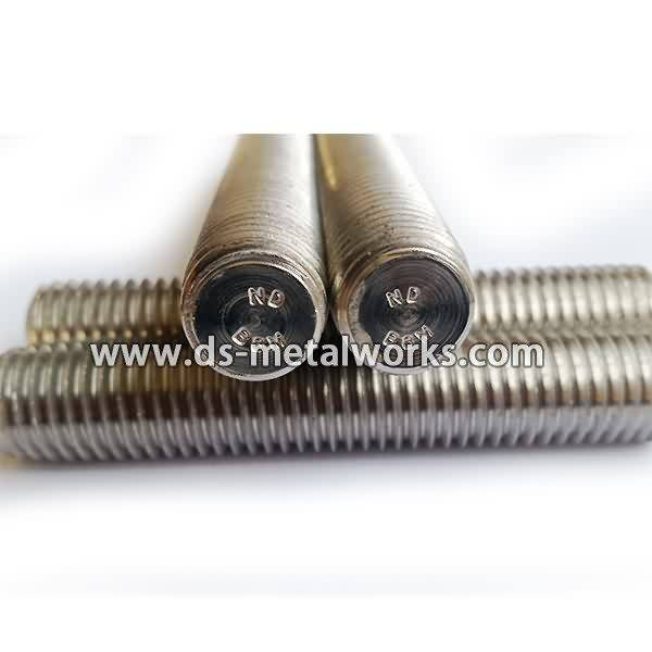 Factory supplied ASTM A193 A320 B8M Threaded Stud Bolts Wholesale to Mecca