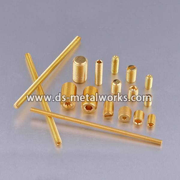 Nylon Tip Set Screws Price - Brass Copper Set Screw Cup Point Grub Screws – Dingshen Metalworks detail pictures