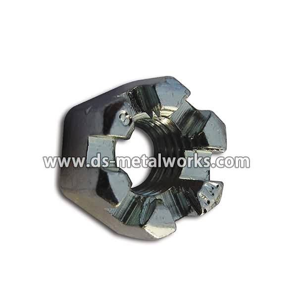 Goods high definition for DIN 935, ASME B18.2.2, JIS B 1170 Hex Castle Nuts Hex Slotted Nuts for Czech republic Manufacturer