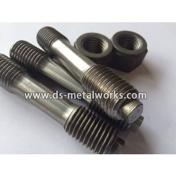 Hot New Products Din2510 Double End Studs with Reduced Shank with Hexagon Nuts to Lyon Factory detail pictures