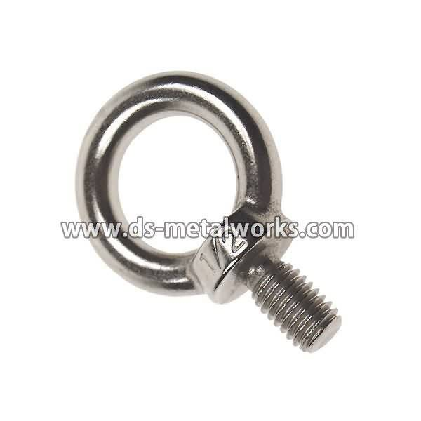 High Efficiency Factory DIN580 ASME B18.15 Lifting Forged Eye Bolts Supply to Puerto Rico