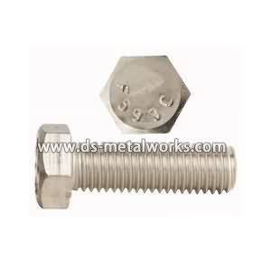 Factory selling A2-70 A4-70 ASTM F593 Stainless Steel Hex Bolts to Las Vegas Factory