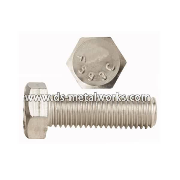 High Performance  A2-70 A4-70 ASTM F593 Stainless Steel Hex Bolts for Orlando Importers