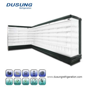 Manufacture Wholesale Supermarket Deluxe Split Vertical Refrigerating Display Cabinet