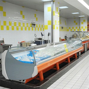 Commercial refrigeration equipment meat display counter