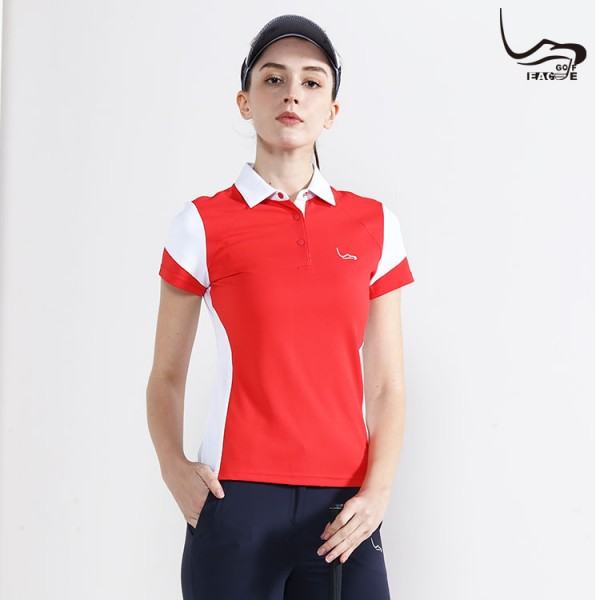 Hot sale fashion design sport polo t shirt for women casual