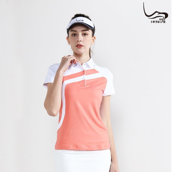 High quality new trendy moisture wicking polo t-shirt for women